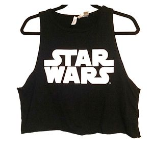 EUC Divided Star Wars cropped tank top